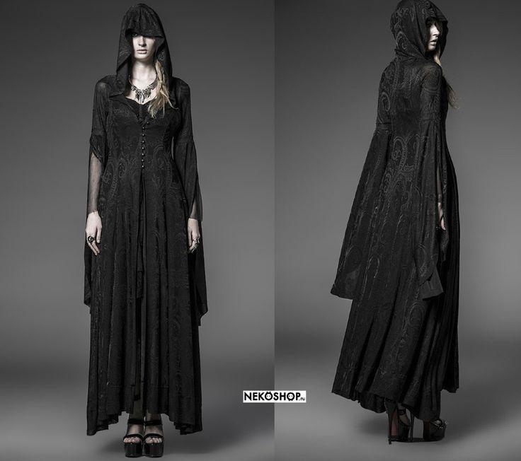 Готическое платье-накидка Sibyl