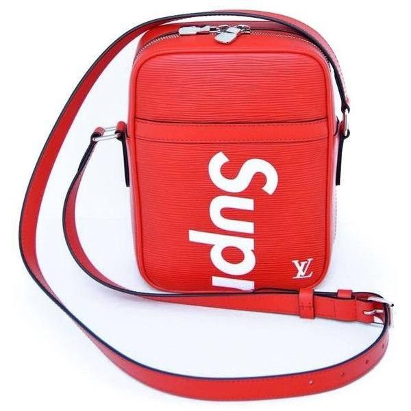 Supreme Louis Vuitton Red Shoulder Bag Danube RARE Pop-Up Exclusive... (1.498.690 VND) ❤ liked on Polyvore featuring bags, handbags, shoulder bags, shoulder messenger bag, red crossbody purse, red purse, cross-body handbag and red cross body purse