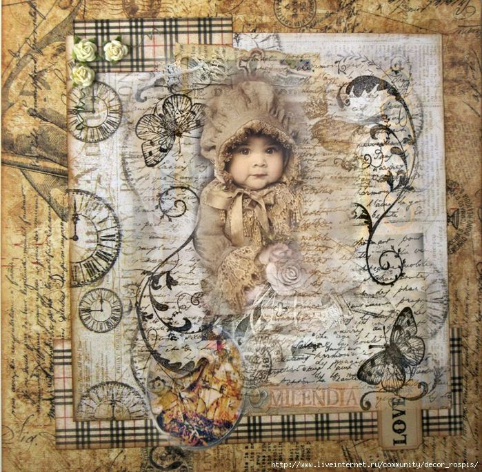 Poster Vintage baby