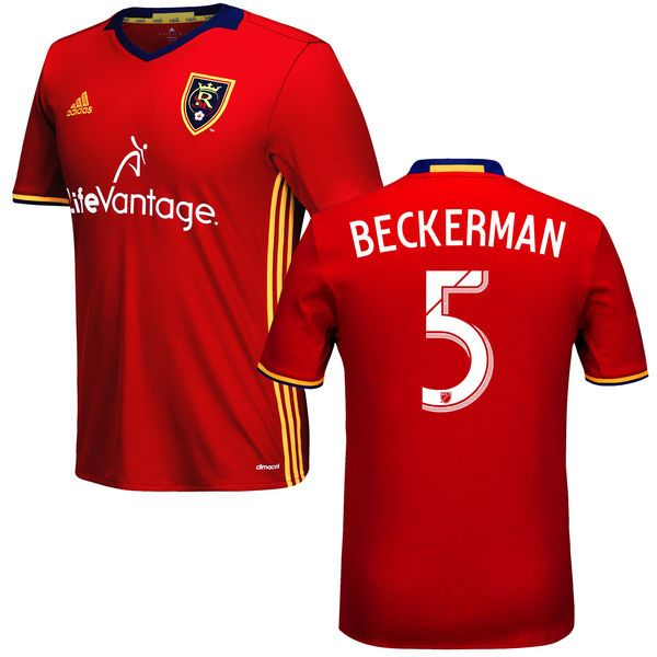 Kyle Beckerman Real Salt Lake adidas 2016 Replica Primary Jersey - Red - $114.99