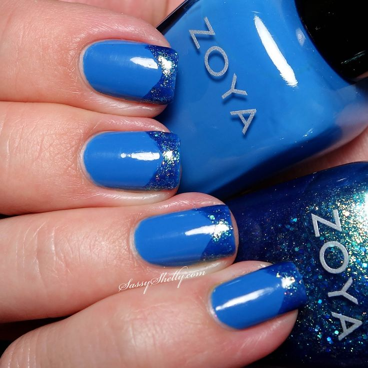 Zoya Ling And Muse Chevron French Tip Manicure Sy Shelly