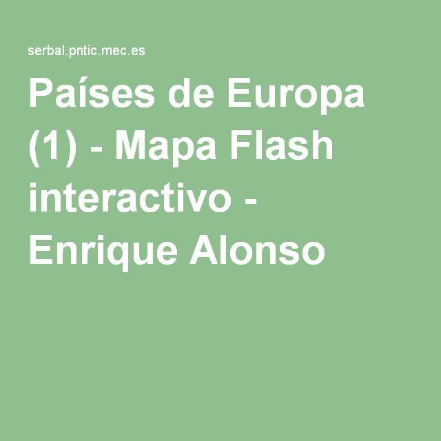 Países de Europa (1) - Mapa Flash interactivo - Enrique Alonso