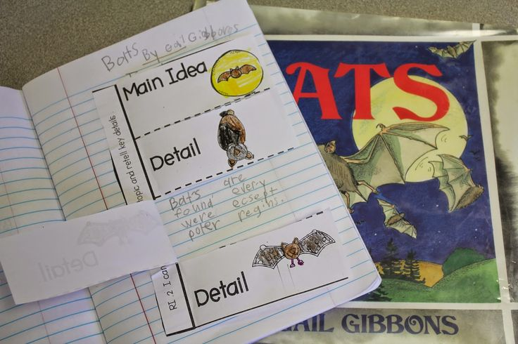 Main Idea and Details with Bats by Gail Gibbons