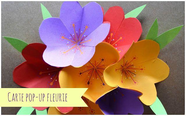 Tutoriel - Carte pop-up fleurie / Flower pop-up card