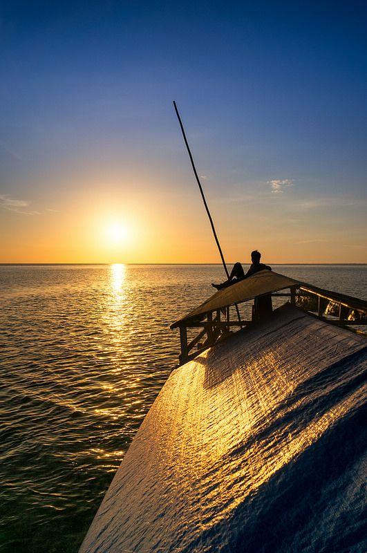 Sunset at Moyo Island - Sumbawa  Photo Ahmed Syukaery