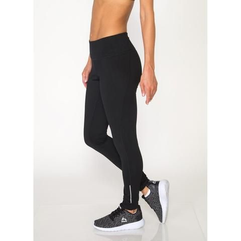 Lumen Seamed Fashion Legging with Printed Waistband and Zip Side Pocke