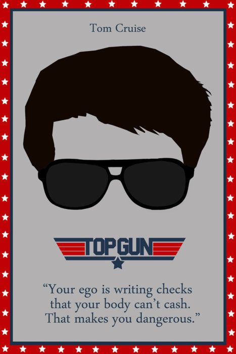 That's right Ice Man...I AM dangerous. @ Jeremy every time I see something from Top Gun I think of you? Lol