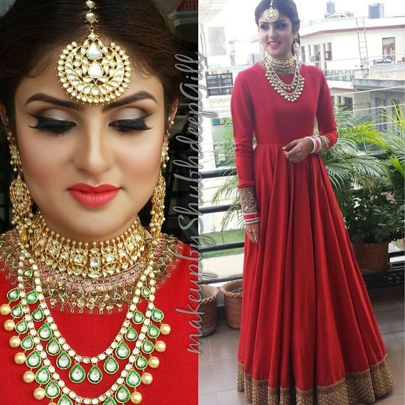 Red Indian Gown...with gr8 jewwelryy...