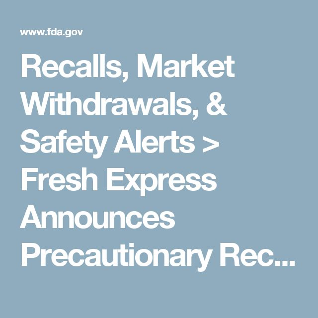 Recalls, Market Withdrawals, & Safety Alerts > Fresh Express Announces Precautionary Recall of a Limited Quantity of 11 oz. American Salad due to Possible Allergen Exposure