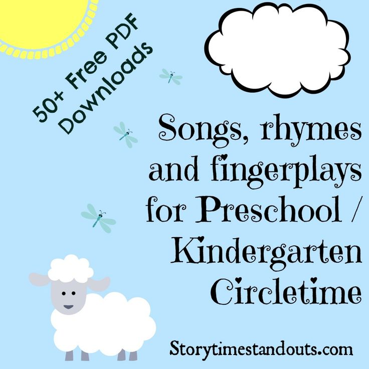 Storytime Standouts free printable songs, rhymes and fingerplays for preschool and kindergarten. More than 50 free PDF downloads!
