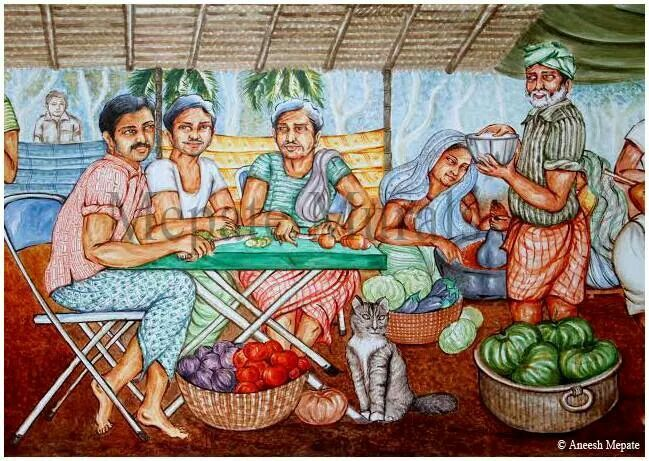 47 best kerala mural art images on pinterest art fabric for Asha mural painting guruvayur