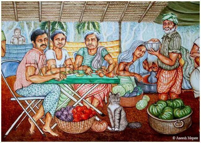 47 best kerala mural art images on pinterest art fabric for Asha mural painting guruvayur