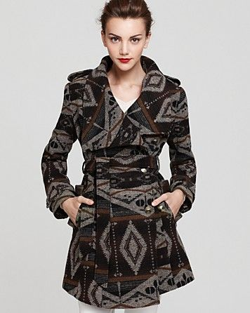 Sam Edelman Southwestern Print Wrap Coat  by Bloomingdale's