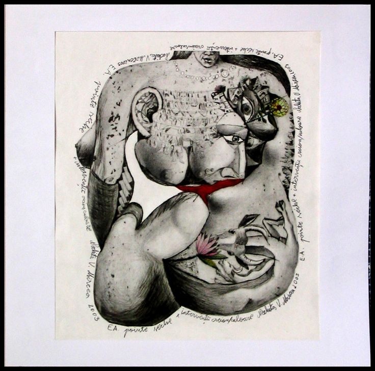 mixaje anatomice.forme amestecate.pointe seche pe placa decupata