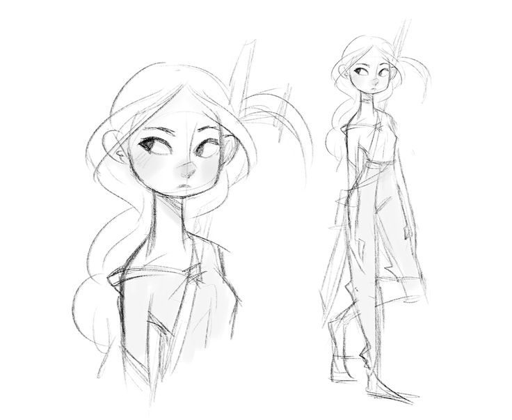 how to draw female human characters