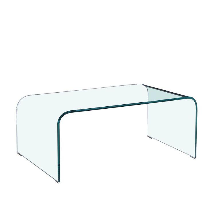 Couchtisch. Modern und elegant. Aus transparentem Glas von 12 mm Dicke gefertigt. Dem Glas kommt ein neuer Status im Mobiliardesign zu. Normalerweise war es immer für die Herstellung von Zubehör oder Elementen kleiner Größe bestimmt; jetzt wird es vielmehr zum Hauptmaterial für die gesamte Erschaffung von Möbeln. Das Ergebnis sind Möbelstücke nüchterner Erscheinung größter visueller Leichtigkeit und dazu sehr elegant. Ihr feines Aussehen verbirgt große Festigkeit und Widerst...