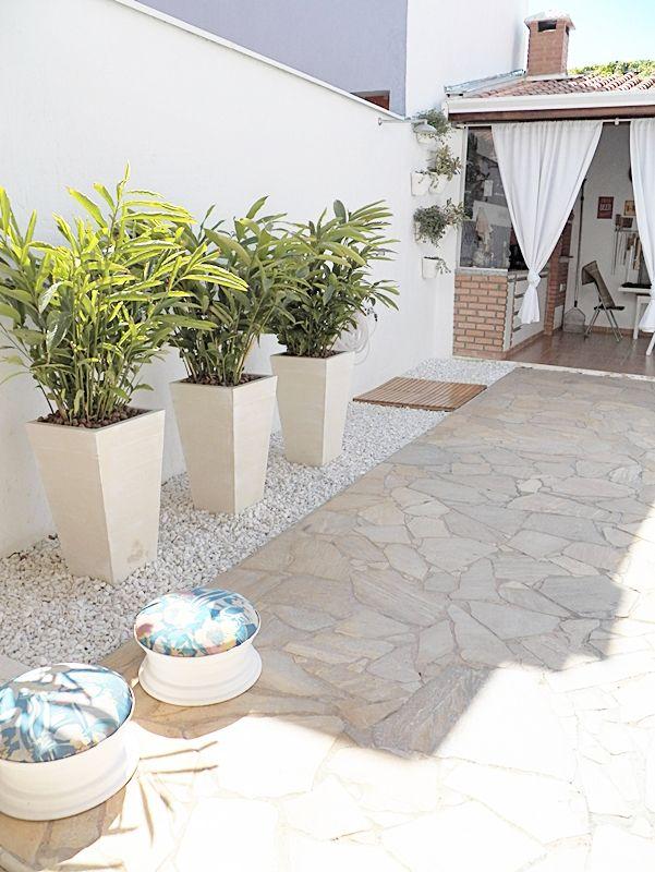 Área externa decorada - projetos 10, 11, 12 e 13