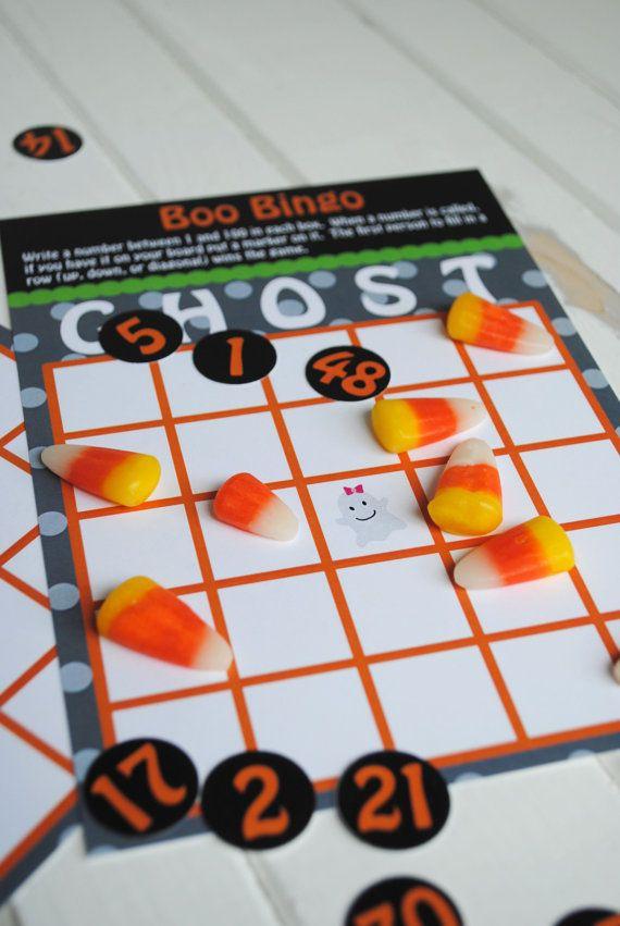 Boo Halloween Bingo Game Set by KatarinasPaperie on Etsy, $10.00