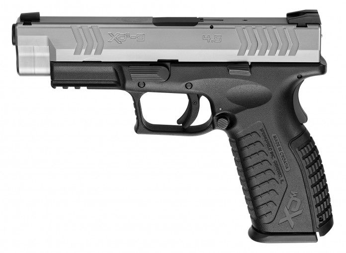 """Springfield XD m 4.5"""" (Price: $570 – $610)    Springfield Armory's XD pistol line is known for their performance and safety, and this XD(M) 4.5-inch pistol takes both of them to a whole new level. This pistol is more accurate, can be handled with utmost precision and the ergonomics are also better than the past. A match grade barrel is also featured by this pistol, while the molded back straps attached to its polymer frame can be interchanged."""