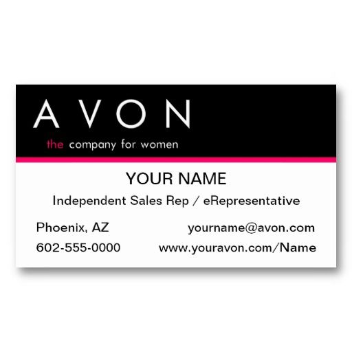 Preferred 17 best Avon Business Cards Templates images on Pinterest  RN58