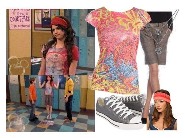 """""""Selena Gomez as Alex Russo"""" by jacdewolfe ❤ liked on Polyvore featuring Disney, Converse, MaxMara, Free People, Wet Seal, Betsey Johnson, alex russo, wizards of waverly place, graphic novel and selena gomez"""
