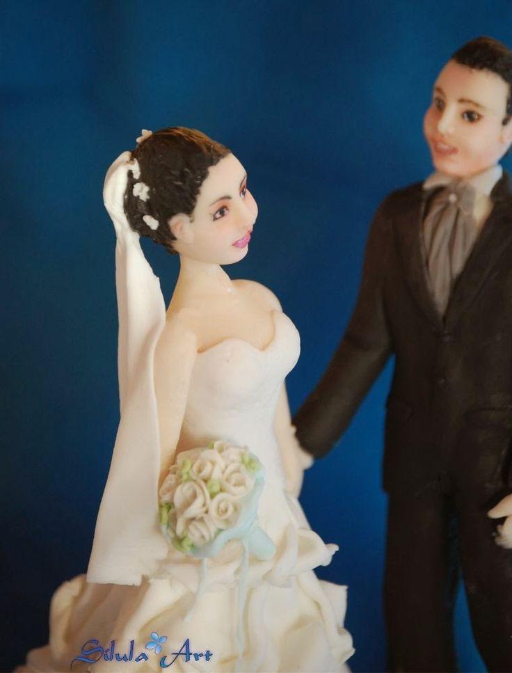 Silula Art: Cake topper per degli sposi romantici