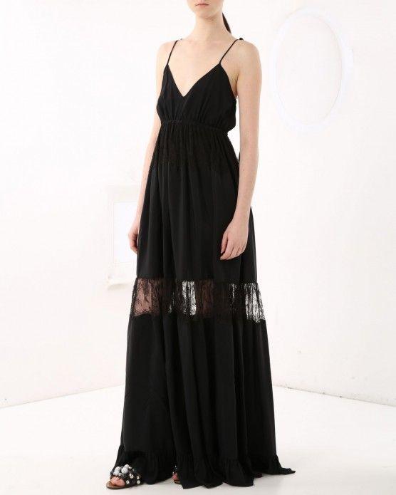 Long dress with lace insert N°21 #N21 #lace #black #longdress #fashion #style #stylish #love #socialenvy #me #cute #photooftheday #beauty #beautiful #instagood #instafashion #pretty #girl