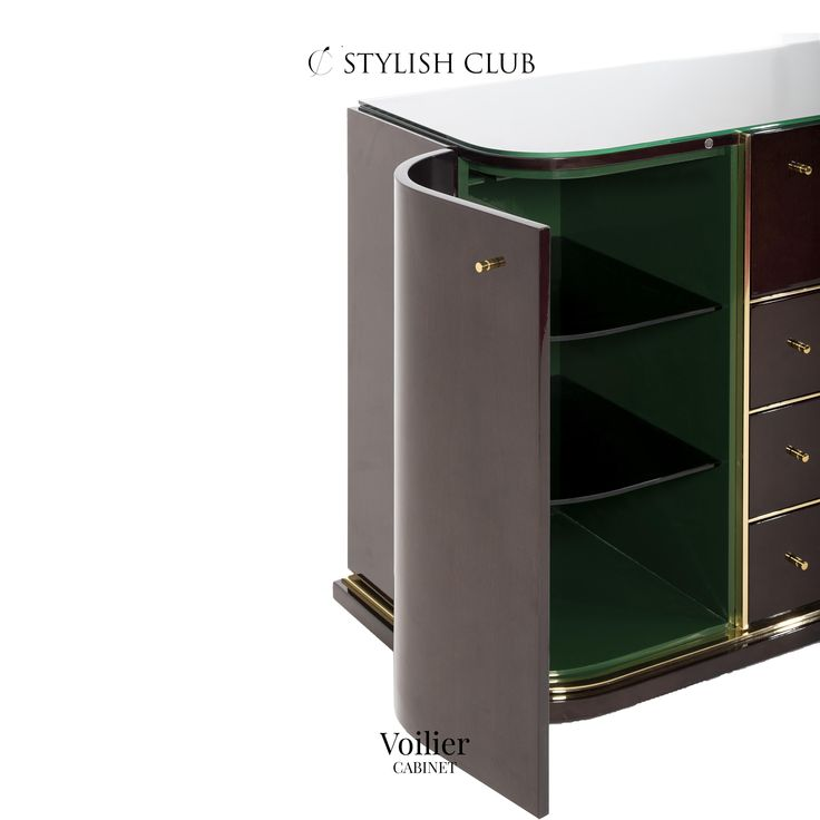 With two doors, three drawers and one folding door can be used as a storage cabinet or glamorous bar.