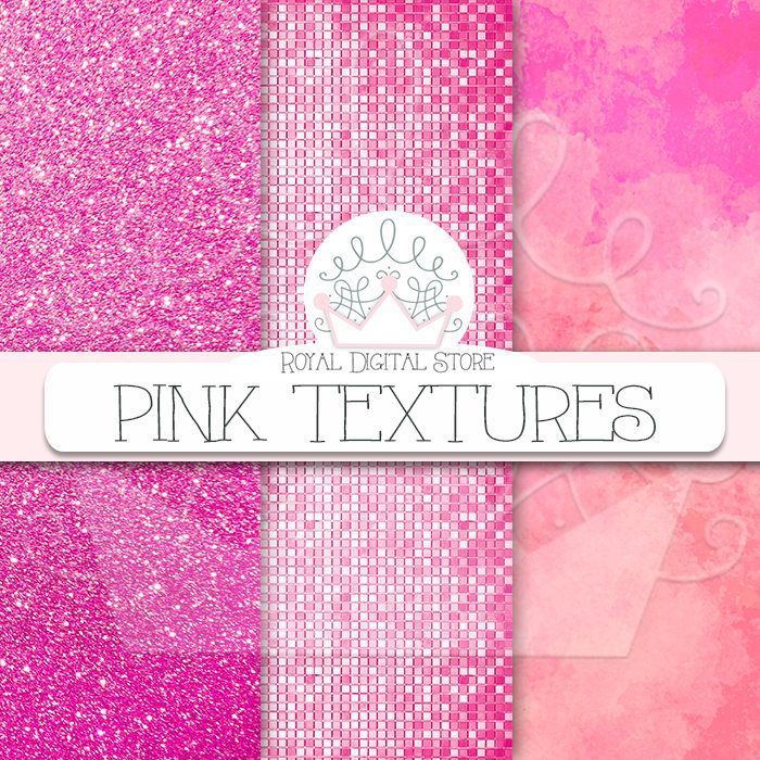 """Pink digital paper: """"PINK TEXTURES"""" with pink background, pink scrapbook paper, pink printable, pink glitter, pink wood for planners, cards #texture #pink #digitalpaper #scrapbookpaper #planner #glitter #watercolor"""