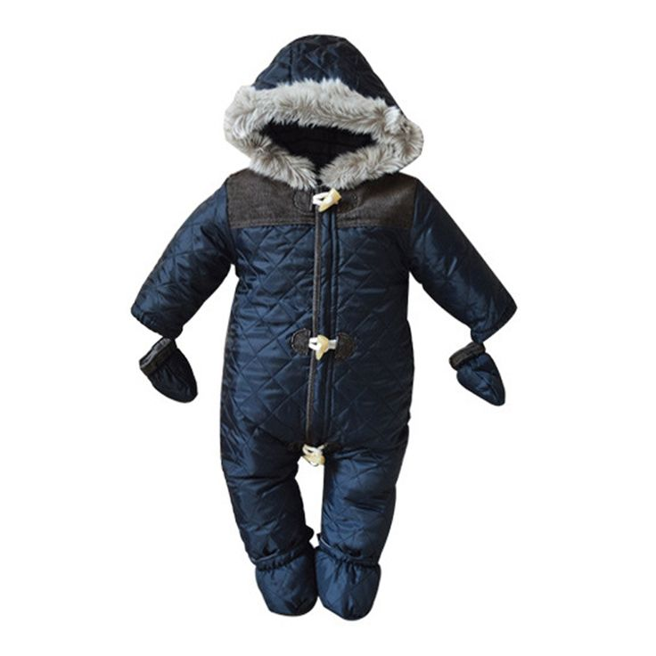28.87$  Buy here - http://aizu6.worlditems.win/all/product.php?id=32215840326 - winter baby boy snowsuit romper toddler cotton one-piece suit romper baby infant winter warm hoody jumpsuit coverall for newborn