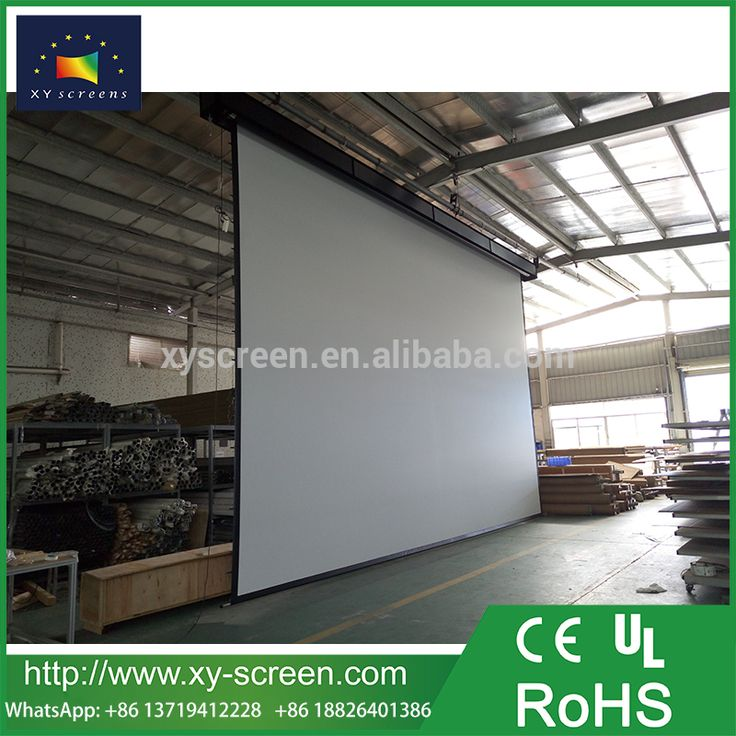 XYSCREEN Free China factory 300 inch 400 inch xxx size electric projector screen motorized projection movie screen