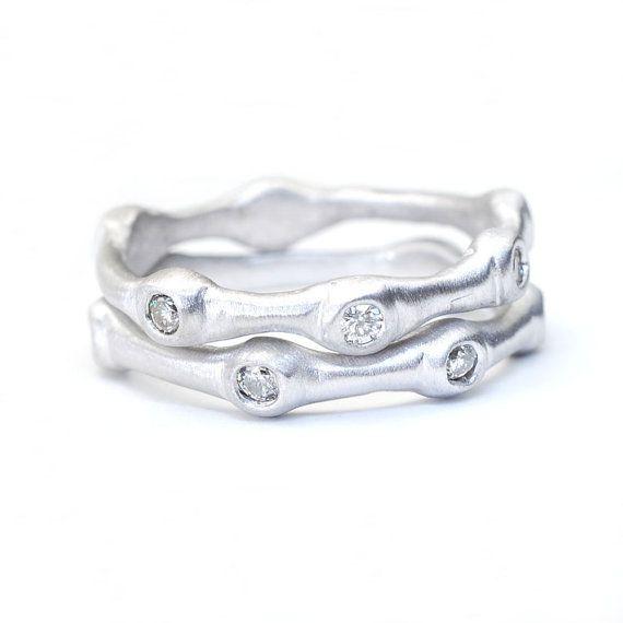 Diamante anello Anelli impilabili Wedding Band bande di di NIXIN