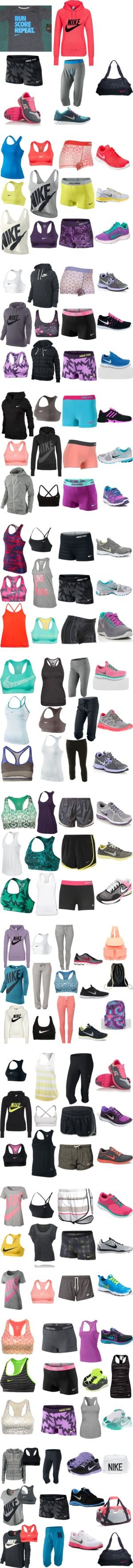 """""""Nike Running Outfits"""" by cowgirrrl-up on Polyvore"""