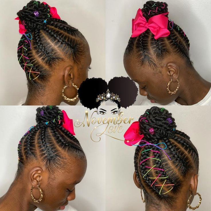 Kids Ghana braids! DM me for more info. #GhanaBraids #JumboCornrows #atlantahair #Ponytail…