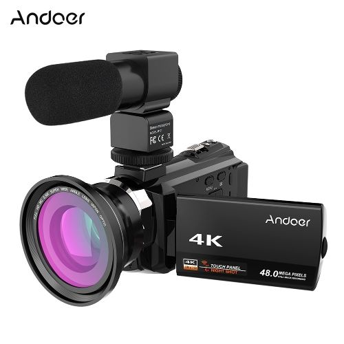 Buy best black Andoer 4K 1080P 48MP WiFi Digital Video Camera from Tomtop.com. Cheap Digital Camera online, various discounts are waiting for you