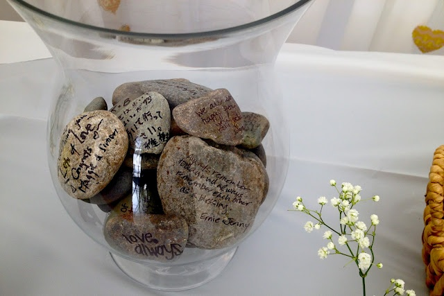 instead of a traditional wedding guest book- have guests sign rocks with sharpies!!Sharpie, Traditional Wedding, Guest Book