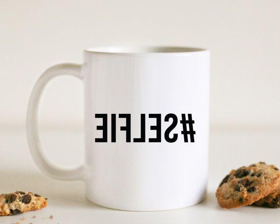 Funny coffee mugs: Selfie coffe mug by Abby and Grace Shop