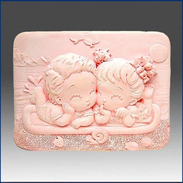 Silikonová forma na mýdlo holčička a chlapeček II.