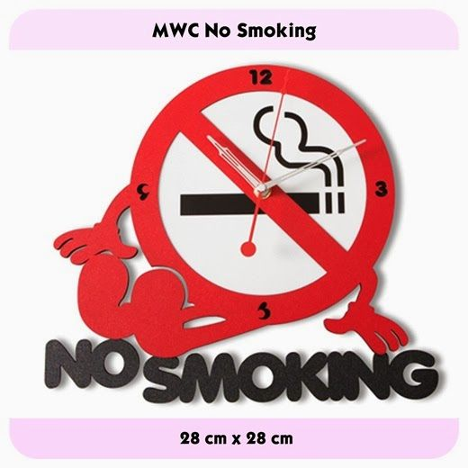 MWC No Smoking - GALLERY JAM DINDING UNIK