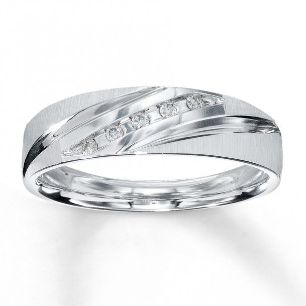 Affordable Mens White Gold Wedding Bands Cheap Unique And