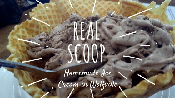 Real Scoop Ice Cream shop in Wolfville by www.ValleyFamilyFun.ca