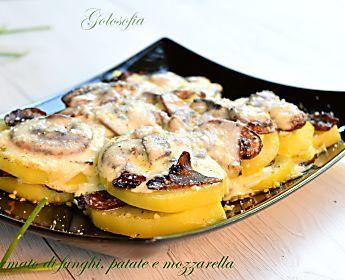 Sformato di funghi, patate e mozzarella-ricetta buonissima