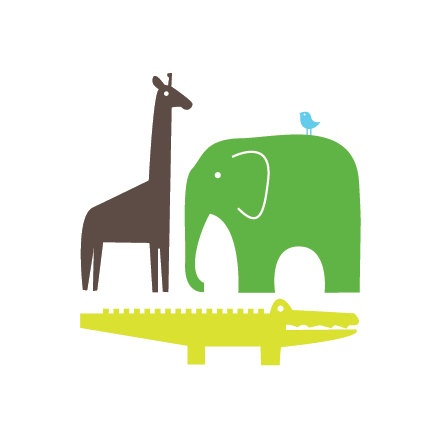 giraffe, elephant, alligator