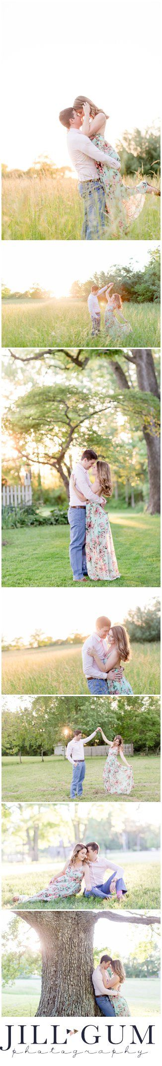 Springfield IL Engagement Session, Chatham IL Farm Engagement, Floral Maxi Dress, Engagement Session Outfit Inspiration, Sunset