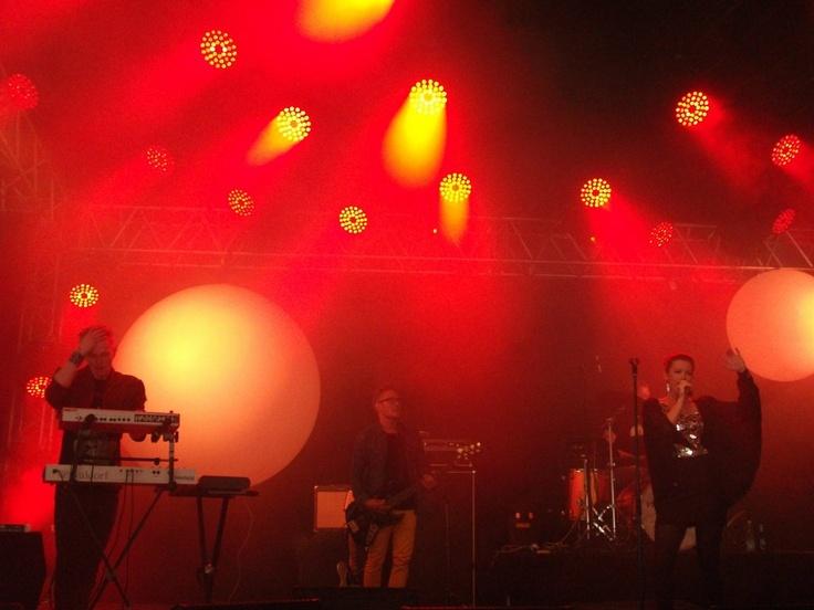 Panamah performing at Skanderborg festival 2012. Amalie in mirror dress.
