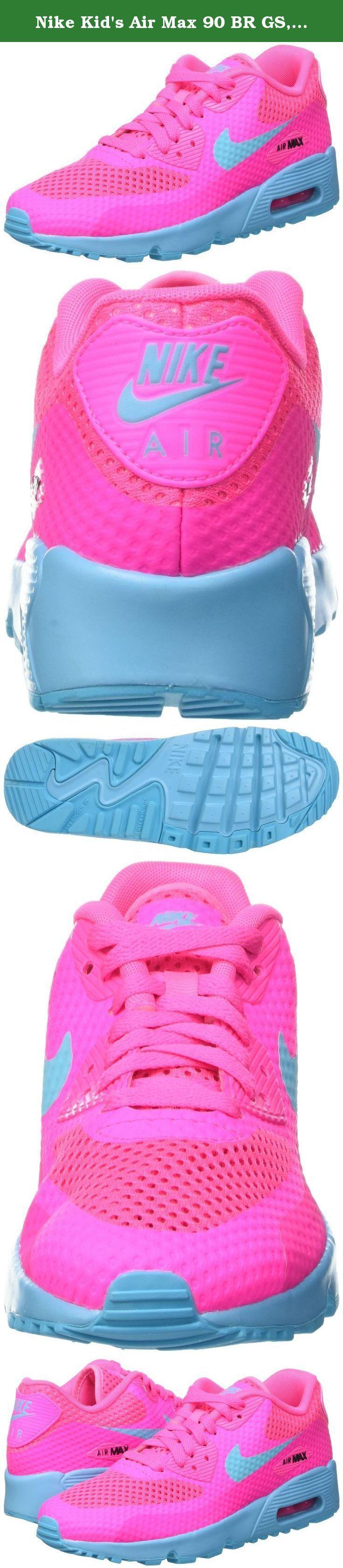 Nike Kid's Air Max 90 BR GS, PINK BLAST/GAMMA BLUE-BLACK, Youth Size 4. Nike Kid's Air Max 90 BR GS, PINK BLAST/GAMMA BLUE-BLACK, Youth Size 4.