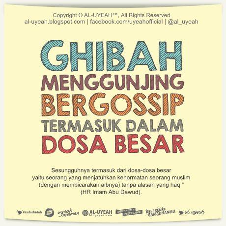 Ghibah, Gossip = Dosa Besar