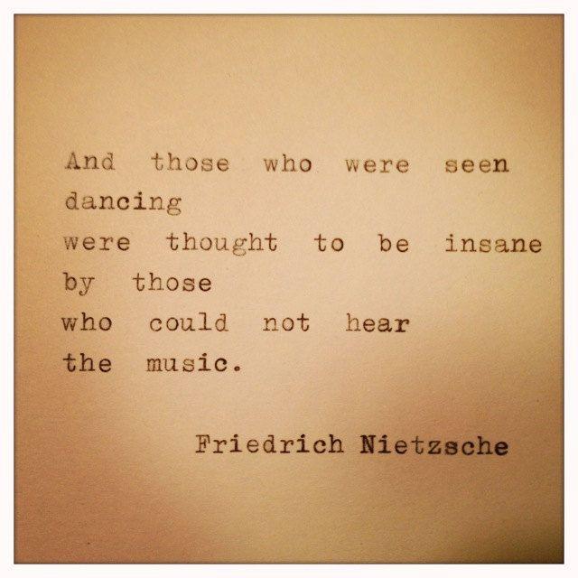 Friedrich Nietzsche Framed Quote Made On Typewriter by farmnflea