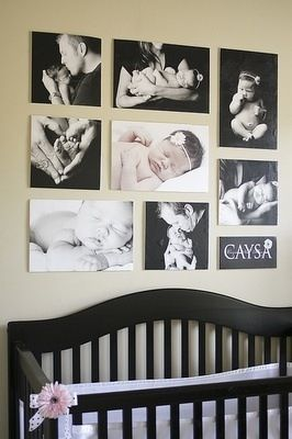 Baby nursery...love the picture idea