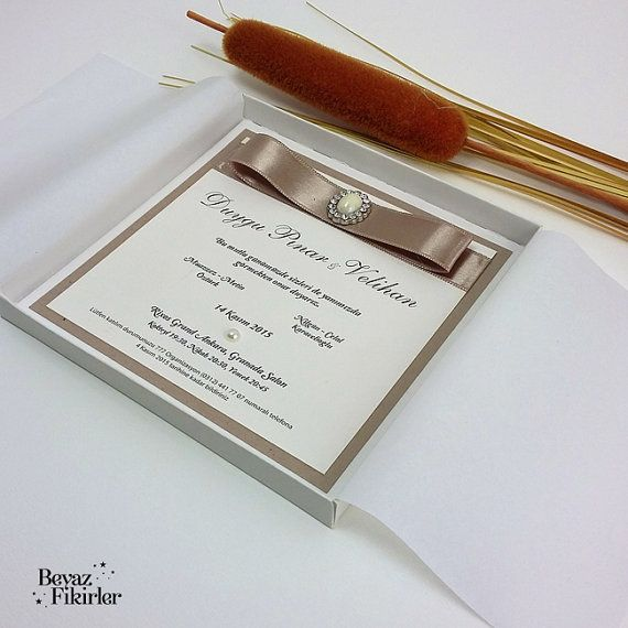 Elegant Boxed Wedding Invitation 25 Card Invite by Beyazfikirler